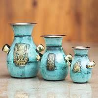 3 Vases Set Vases Art Glass Crystal Wood U0026 Blown Glass Vases Novica