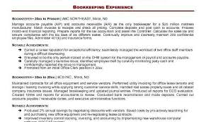 Sample Resume Accounts Receivable Sample Resume Bookkeeping Clerk Writing The Proposal