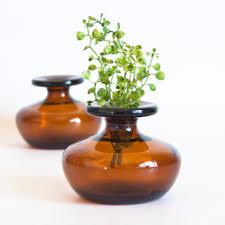 Small Vases Shop Amber Glass Vase Vintage On Wanelo