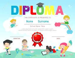 preschool graduation certificate template preschool diploma template