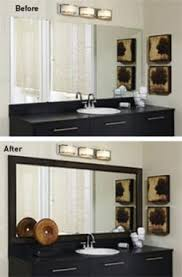 bathroom mirror frame kits lovetoknow