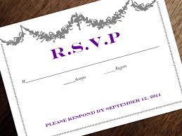 printable rsvp card response card download instant