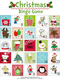 are the kids bored print off this free christmas bingo game play