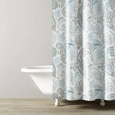 Turquoise And Grey Shower Curtain Paisley Shower Curtain Kassatex