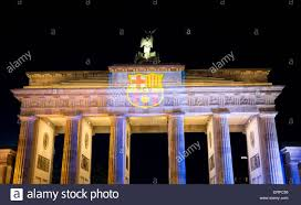 Juventus Flag Brandenburger Tor Is Lit Up With The Colours Of Fc Barcelona U0027s
