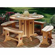 Build A Patio Table Woodworking Project Paper Plan To Build Apple Patio Table Benches