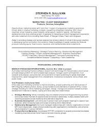 Senior Management Resume Templates Client Relationship Executive Resume