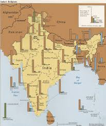 British India Map by Religions Of India Maps Flag Map Economy Geography Climate