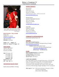 Football Coaching Resume Examples by Athletic Resume Template