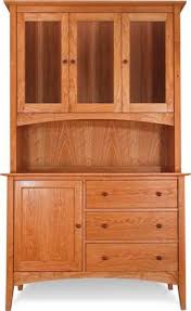 american shaker buffet and hutch natural cherry wood china