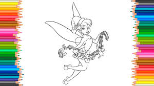 merry christmas coloring pages disney tinkerbell happy new year