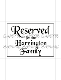 printable reserved table signs customized printable reserved table signs idodiy arty cat designs