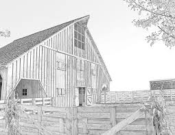 33 country barns coloring book for adults coloring books