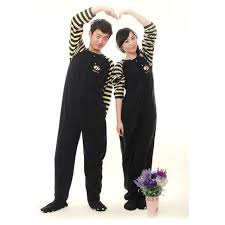 aliexpress buy 2017 adults footed pyjamas for