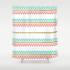 Mint Shower Curtain Best Coral And Mint Shower Curtain Products On Wanelo