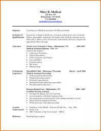 6 medical resume sample assistant cover letter receptionist for