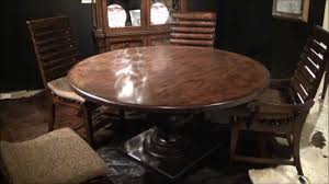 60 Round Dining Room Table Whiskey Oak 60