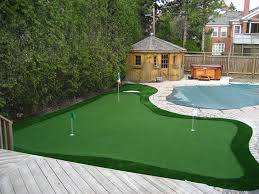Small Backyard Putting Green Home