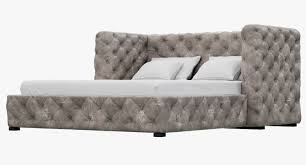restoration hardware tribeca tufted leather platform bed 3d model