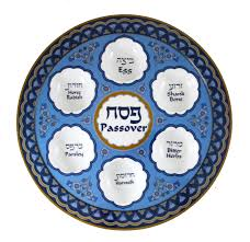 what goes on a passover seder plate melamine passover seder plate blue floral