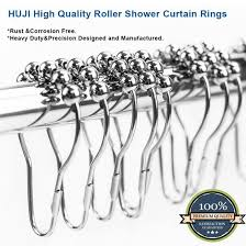 huji home products shower curtain rings