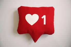 Heart Home Decor Instagram Heart Notification Pillow Heart Pillow