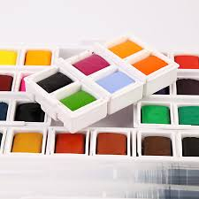 superior watercolor paint with paintbrush high quality portable