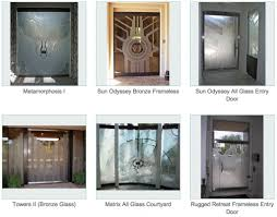 Metal Front Doors For Homes With Glass by Frameless Doors Sans Soucie Art Glass