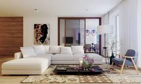Black And White Sectional Sofa Floral Printed Beige Colored Rug And Black Coffee Table For Modern