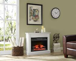 electric fireplace can complete the room kitchen end table