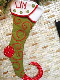 grosgrain awesome personalized christmas stocking pattern free