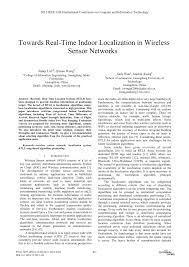 towards real time indoor localization in wireless sensor networks