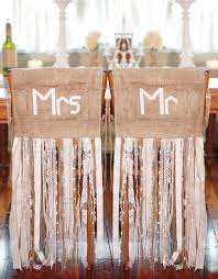 burlap wedding ideas 10 creative chair decor ideas intimate weddings small wedding