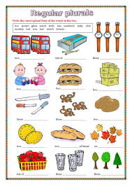 regular plurals worksheet worksheet free esl printable