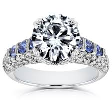 verlobungsring nur frau vintage deco stil diamant und saphir verlobungsring ring 3 1
