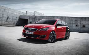 peugeot red download wallpaper 3840x2400 peugeot 308 gti red side view