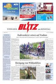 wismarer blitz vom 17 04 2016 by blitzverlag issuu