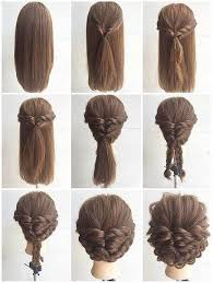 step by step hairstyles for long hair with bangs and curls easy hair do but can t read the language lol easy hair language