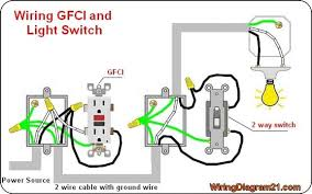 gfci outlet with light switch gfci outlet wiring diagram corriente 2 pinterest light