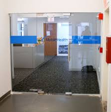 glass door signs nyc u0027s axiom signs mobile health dimensional office logo