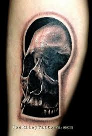 3d skull in key lock design