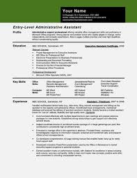 Administrative Assistant Key Skills For Resume Resume Template For Administrative Assistant Saneme