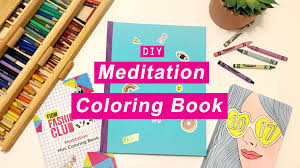 mini coloring book whatdaymade diy meditation coloring book free downloads youtube