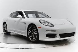 porsche panamera white certified pre owned 2014 porsche panamera in white
