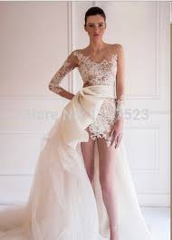 wedding dresses high front low back fashionable a line scoop zipper high low wedding dresses