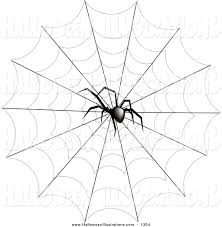clip art of a creepy spider on a web by pams clipart 1354