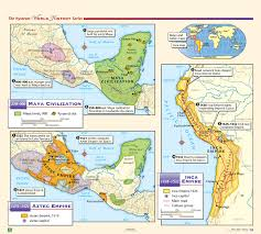 mayan empire map the nystrom complete history map set nystrom education