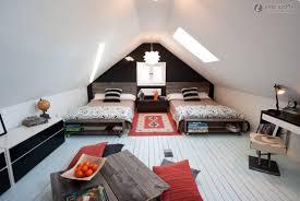 uncategorized attic ceiling loft style bedroom modern house with