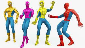 Cartoon Human Anatomy Learn Colors With Spiderman Dancing Cartoon For Kids Learn New