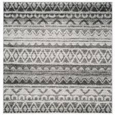 safavieh adirondack silver black 6 ft x 6 ft square area rug